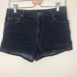 90s Calvin Klein High Waisted Jean Shorts